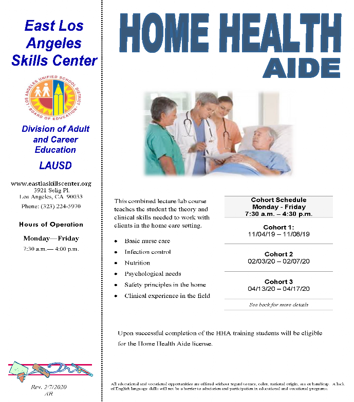 ELASC CTE Home Health Aide