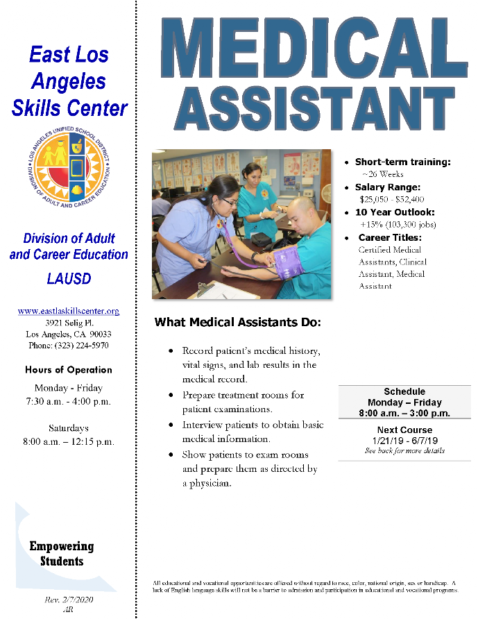 ELASC CTE Medical Assistant
